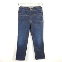 Closed Jeans Pedal Straight Damen Gr. DE 38 IT 44 W26 Blau Faded Distressed