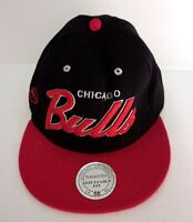 MITCHELL & NESS NBA Chicago Bulls Snapback Retro Text Hat Hardwood Classics Cap