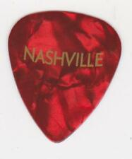 NASHVILLE Tennessee GUITAR PICK Red MARBLE Music City Country Music Opry USA