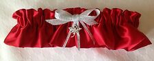 Bridal Garter - Red Satin (Australian Made)