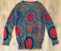 Desigual ladies womens multicolor shirt top blouse size S