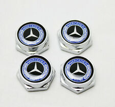 4XCar License Plate Frame Fastener Screw BOLT Covers Screw Fit For Mercedes-Benz