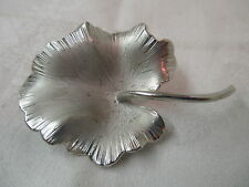 Vintage Giovanni Silver tone Brooch Water Lily Leaf