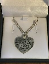 "Sterling Silver Heart ""I Love You"" Necklace"
