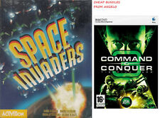 2X PC GAMES COMMAND & CONQUER 3 TIBERIUM WARS (MACDVD) & SPACE INVADERS (NEW)