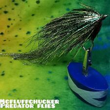 "PIKE FLY - flash streamer 6/0 circle hook, 6 to 7 inch fly ""mcfluffchucker"""