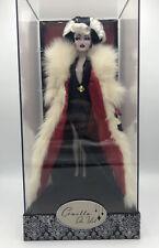 Disney Designer Collection Villains Cruella De Vil Doll New With Box & Case