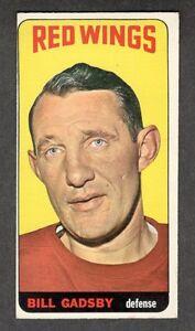 1964-65 BILL GADSBY #96 EX Topps SCARCE High # Hall of Fame Star NHL Hockey Card