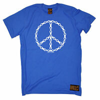 Peace Symbol Bicycle Chain T-SHIRT tee cycling jersey funny birthday gift 123t