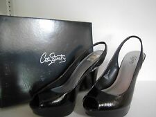 NEW CITY STREETS SARA BLACK PUMPS WOMEN'S SHOES SYNTHETIC STILETTOS SIZE 9B NWB