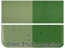 Bullseye Thin Olive Green Transparent Kiln Fusing Glass 1141-50