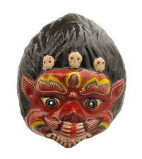 MASQUE NEPALAIS DEMON DEVIL INDRA JATRA FESTIVAL NEPAL PAPIER MACHE MASK 4726