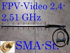 FPV Video Yagi Antenne SMA Stecker 2,51 GHz 0,6m Kabel