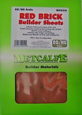 Metcalfe M0054 Red Brick Sheets. (00 Gauge)  Railway Model Kit