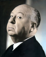 "ALFRED HITCHCOCK HOLLYWOOD DIRECTOR PRODUCER 8x10"" HAND COLOR TINTED PHOTOGRAPH"