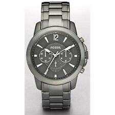 New Fossil Men FS4584 Grant Multifunctions Grey Dial Stainless Band Watch