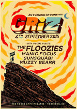 "GRIZ /FLOOZIES /MANIC FOCUS ""AN EVENING OF FUNK"" 2015 DENVER CONCERT TOUR POSTER"