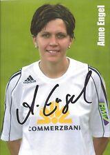 Autogramm Anne Engel Frauen Fußball Bundesliga, ältere Karte vom 1.FFC Frankfurt