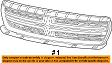 Dodge CHRYSLER OEM 15-18 Charger-Grille-Upper 5PP33DX8AB