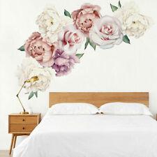 Peony Flowers Individual Wall Sticker Bedroom Nursery Decals Kids Mural Art AU