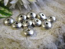 10 Rondelle Metallperlen 10mm, silberfarben, Zwischenperlen, Perlen basteln