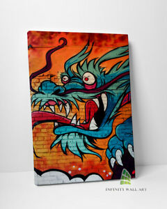 Graffiti Dragon Canvas Art Wall Art Canvas Print Picture Canvas Print --C880