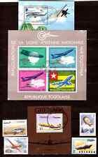 TOUS PAYS 3 blocs+4 timbres : avions,planeurs,ballons,hélicoptere BL257