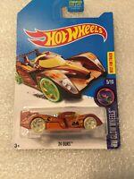 Hot Wheels 2017 24 Ours HW Glow Wheels 5/10 (Treasure Hunt) NEW ON CARD B35
