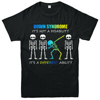 Skeleton Syndrome T-Shirt, It's Not A Disability It's Different Ability Gift Top