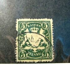 Germany-Bavaria  Stamp Scott# 39 Coat of Arms 1876-78 (couple of perfs. gone)H51