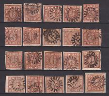 Bayern - Bestand von 240 !! Stück MiNr. 4, 6 Kr. braun (Töne) - bitte ansehen !!