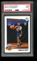 2019 Panini Hoops #296 Zion Williamson Pelicans Rookie Card RC PSA 9 MINT