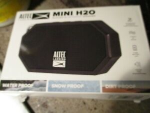 Altec Lansing Mini H20 Rugged Waterproof BT Speaker Black OPEN BOX