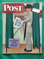 Nov 1944 Vintage Magazine Cover only ~ Norman Rockwell ~ Roosevelt vs Dewey