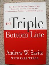 The Triple Bottom Line by Andrew W. Savitz (2006, HC) FREE SHIPPING