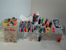 Lot of 45 Fabric Markers and Paint Embroidery Kit and Book ETC.