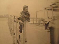 ANTIQUE 1899 NY BEACH BOARDWALK CAPUCHIN MONKEY WORKS FOR ORGAN GRINDER  PHOTOS