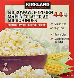 Kirkland Signature Microwave Popcorn, Gluten Free 3.3 oz, 44 Count