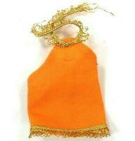 Vintage Topper Dawn 1970s Orange Mini Dress w/ Gold Trim Peachy Keen #0822 HK