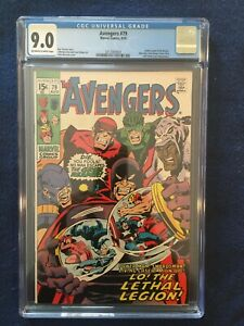 Avengers #79 - CGC 9.0 - Off-White To White Pages