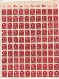 Michel No 172 A Teilbogen Bavaria Mint