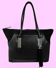 FRENCH CONNECTION Camden Black Leather Tote Bag Msrp $118.00