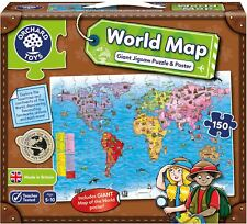 Orchard Toys WORLD MAP PUZZLE AND POSTER Educational Game Puzzle BNIP