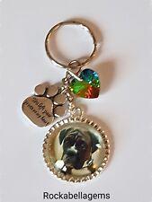 Pet Loss Memorial  Dog & cat personalised Key ring, Bag Charm, rainbow bridge