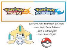 Pokémon Ultra Sun And Moon 20th Anniversary Mythical Event Pokemon Jirachi
