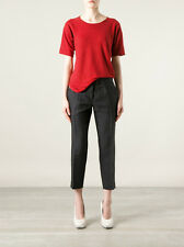 ISABEL MARANT ÉTOILE  Faxon Red Black Linen Striped Tee Small S