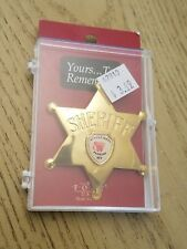 "Saddle West Casino Pahrump Nevada 6 point Metal Sheriff Badge Pin Fort Box 3"" Nv"