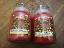 Yankee Candle BRAND NEW 2x Large Jars RED APPLE WREATH