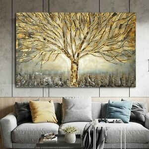 Canvas Painting Abstract Pictures Art Tree Poster Home Wall Room Posters Decor