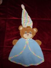 Teddy Beddy Bear 1985 SECURITY BLANKET Rare Fisher Price Blue Baby Puppet Toy